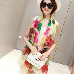 Discount women nice scarves Nice women scarf girl soft large size wrap imitated silk fabric print shawl gifts 10 color