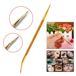 $enCountryForm.capitalKeyWord NZ - Pro MakeUp Cosmetic Double Sided Ended Brushes Eyeshadow Eye Brow Tools Lip Eyeliner Oblique Bending Brush