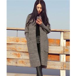 Womens Outwear Jackets Canada - Knit Sweater Jumper Coat Jacket New Long Cardigan Outwear Womens Loose
