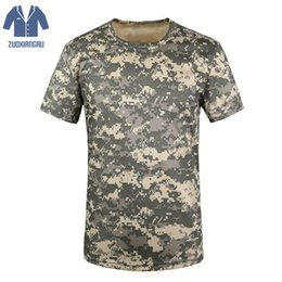 combat camo shirt 2019 - Zuoxiangru Breathable Camouflage T-shirt Summer Men T Shirt Army Tactical Combat Dry Camo Camp Tees cheap combat camo sh