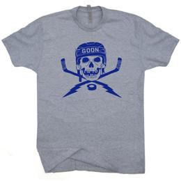 Men Mask Stick Australia - Hockey T Shirt Vintage Skull and Eat Sleep Hockey Sticks Goalie Mask Graphic Tee