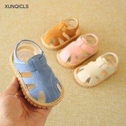 Brown Toddler Sandals Australia - XUNQICLS 2018 New Infant Sandals Toddler Baby Girl Crib Shoes Soft Sole Kids Boys Sandals Beach Shoes 0-2years