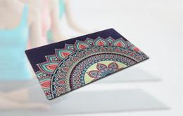 Tapis de fleurs de yoga de remise en forme de sport en caoutchouc naturel résistant à l'humidité antidérapant tapis de voyage fabricants de tapis de déesse en gros