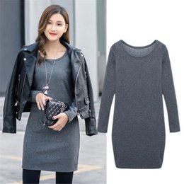 57f7010c300 VISNXGI Casual Winter Dress O-Neck Knitted Cashmere Thick Sweater Dress  Warm Women Cotton Straight Pullover Female Autumn