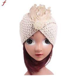Quality Beach Wraps Australia - High Quality Children Winter Hats Fashion Girls Knitting Hat Skullies Beanies Turban Head Wrap Cap Gorro