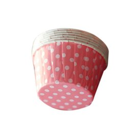 China 100pcs lot Cupcake Wrappers Muffin Liners Star Dot Strawberry Baking Cups Cupcake Cases for Baby Shower Birthday 68x68x39cm supplier strawberry cups suppliers