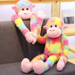 toy monkey long arms 2019 - YESFEIER 80cm Colored Long-armed Monkey Plush Toy Soft And Comfortable As A Birthday Gift For Children Monkey doll cheap