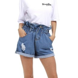 d9c5990547bd 2018 Women New Summer Denim Shorts Loose Casual Short Elastic High Waist  Short Plus Size S-5XL