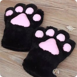 Paw Glove Cosplay NZ - Cosplay Costume Cat Tail Kitten Ears of Collar Paws Gloves Anime Gothic Lolita Set