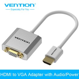 hdmi cable laptop usb 2019 - Vention Metal HDMI to VGA Adapter Converter Cable 1080p with Audio & Micro USB port power Supported for Laptop HDTV Proj