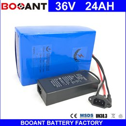 Motor Bicycles Australia - BOOANT 36V 24AH E-Bike Li-ion Battery pack for Bafang 1500W Motor Electric Bicycle Battery 36V EU US Free Customs +2A Charger