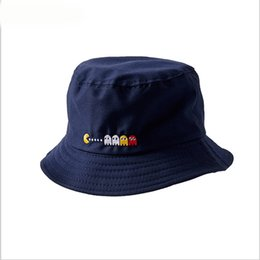 2018 Sunscreen Women Bucket Hat Spring summer Cute Embroidery Fisherman  Panama High Quality Cotton Travel Visor Hats d37eaefd1cfe