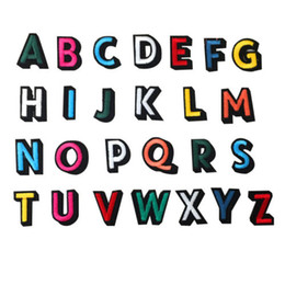 Color Alphabet Letters Embroidered Sew Iron on Patches Bag Cap Jeans  Applique Badge Craft