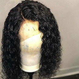 Deep Curly Indian Lace Wig Australia - Pre Plucked Natural Hair Line Deep Curly Lace Front Wig Remy Indian Hair Wig for Black Women