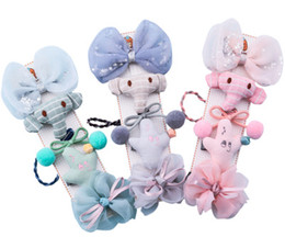 Wholesale Hair Nets NZ - Cloth handicraft, handmade elephant elephant, elephant cactus, netting, bow tie, children's hair clip combination suit.