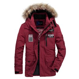 Discount fake branded clothing - M~4XL Autumn Winter Straight Men White Duck Down Jackets And Coat Warm Fake Fur Collar Casual Brand-Clothes High Quality