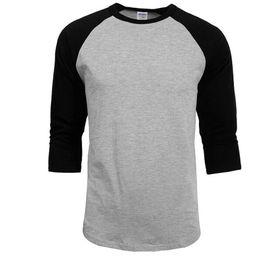 hottest design t shirt 2019 - 2018 New Fashion T Shirt Men Design O-Neck T-shirt Men's Casual 100% Cotton 3 4 Sleeve Tshirt Hot Sale Raglan Jerse