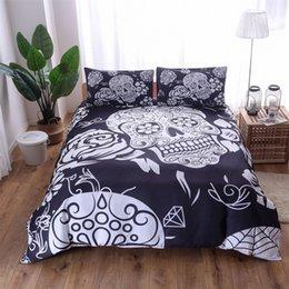 Stile europeo 4 pz Suit Set di biancheria da letto Fashion Skull Duvet Covers Queen Size Luxury Quilt Cover Multi stili di alta qualità 114bj4 Ww
