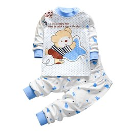 boys cartoon sets winter 2019 - Infant Clothes Set Newborn Infant Baby Boys Girls Cartoon Bear Hoodie Tops Pants Outfits Set dropshipping discount boys