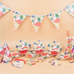 Discount paper plates tableware Kids Flamingos Birthday Party Supplies Favor Tableware Decor Plates Napkins Banner Cups  sc 1 st  DHgate.com & Discount Paper Plates Tableware | 2018 Paper Plates Tableware on ...