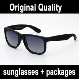 real quality brand sunglasses 4165 justin model polarized lenses man woman with original leather case packages, accessories grey silver box from sunglasses aviator gold mirror suppliers