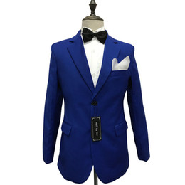 Chinese  HCF by Air Men's 1 Piece 2 Button Flat Collar Skinny Straight Casual Clothing High Quality Men Suits Jacket Blue manufacturers