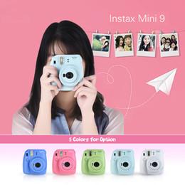 Instax Mini 9 Instant Camera Photo Film Camera Mini Camera هدية جيدة مثل Hello Kitty Pink / Blue / Greem / White
