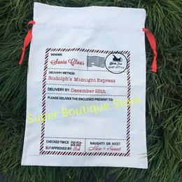 $enCountryForm.capitalKeyWord NZ - Wholesale Monogrammed Candy Cane Stripe Christmas Sack Personalized Stripe Christmas Gift Sacks Santa Bags