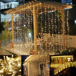 curtain lights for bedroom 2019 - Curtain String Lights 9.8 X 9.8ft 304 LED 8 Modes Starry Fairy Lights For Christmas Wedding Party Bedroom Garden Patio O