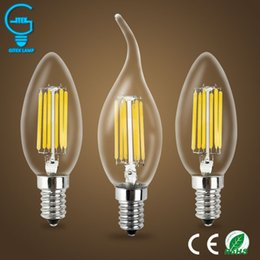 Dimmable E14 Energy Saving Bulb Australia - 2W 4W 6W E14 220V AC LED Filament Candle Bulbs 360 Degree bulb New Design lamp Replace Incandescent Light Energy Saving Dimmable