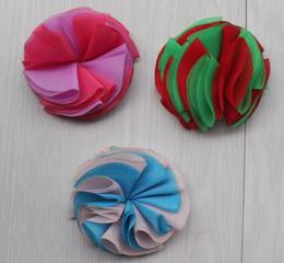 $enCountryForm.capitalKeyWord NZ - 40pcs 6cm Multilayer Chiffon Flowers for DIY Babies Hair Headband Headwear Hair Clip Accessories,chiffon flower for girls headbands