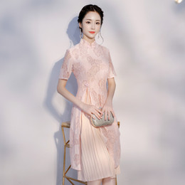 $enCountryForm.capitalKeyWord NZ - Pink Vietnam aodai Chinese traditional Clothing For Woman Qipao Chinese Oriental dress modern cheongsam ao dai 2018
