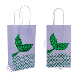 Wood Crafts For Kids UK - Candy bags for Gift Wraps Mermaid in 2 Colors Paper Gift Wrap for kids Trick or Treat