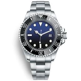 Logotipo famoso BrandOriginal relojes de pulsera de zafiro Basel Red SEA-DWELLER reloj de acero inoxidable 44 mm 126600 Relojes de movimiento automático