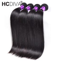 Discount cheap 22 inch bundle hair - 8A Mink Brazilian Virgin Hair 4 Bundles Silk Straight 100% Unprocessed Human Hair Bundles Cheap Wholesale Peice Body Wav