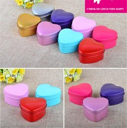 tin boxes wholesale NZ - New Home MOQ 500 pcs 1 color Heart Metal Coins Candy Case Makeup Jewelry Tin Box Candy Organizer