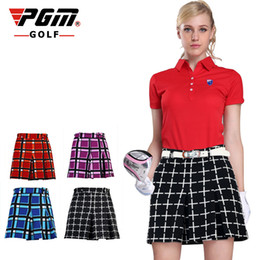 Discount ladies leisure clothing - PGM ladies lady womens Golf ropa Short Spring Summer Autumn Pantskirt Laice England Wind Pleated Skirt Leisure Clothing