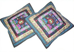 $enCountryForm.capitalKeyWord NZ - Unique 100% Handsewn Tribal Embroidery Sofa Couch Cushion Pillow Cover #206 Pair