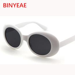 Discount hot trendy sunglasses - Wholesale-Clout goggle Kurt Cobain glasses oval sunglasses ladies trendy 2017 hot Vintage retro sunglasses Women's