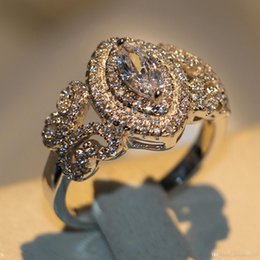 $enCountryForm.capitalKeyWord Australia - Size 5-11 New arrival Stunning 925 Sterling Silver Horse Eye White Sapphire CZ Diamond Gemstones Enternity Women Wedding Band Pave Ring Gift