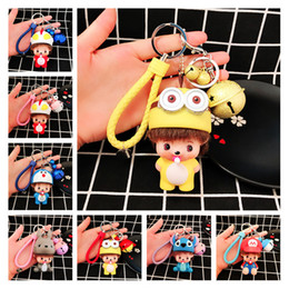 cool cartoon boys Canada - Wholesale Cool Keychains For Guys 27 Styles Metal Alloy PU Leather Cartoon Doll Mens Womens Bag Keychain Car Key Accessories