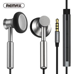 clear ear phone 2019 - Newest 100% Original REMAX Clear Metal In-ear Earphones with HD Mic Noise isolating Heavy Bass Earbuds Braided Cable Fla