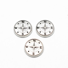 $enCountryForm.capitalKeyWord Australia - Hot selling 10pcs lot Compass floating charms Gold silver Alloy charms living glass memory lockets DIY jewelry