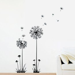 Hot Sale 1PC New Arrival Creative Dandelion Removable Wall Stickers Mural PVC Home Decor Stickeres For Your