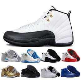 Discount rubber games - hot new 12 Basketball Shoes OVO White TAXI Flu Game gamma blue Playoff flint French blue Cool Grey 12 classic Men Women