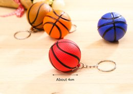 Wholesale New Fashion SportsPVC Mini Basketball Keychains Plastic Key Ring Football Basketball Golf ball Pendant Keyring For