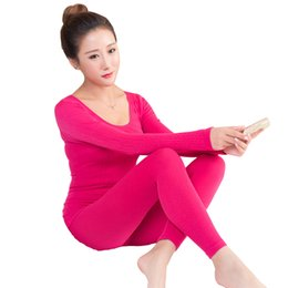 thin thermal underwear UK - NEW Seamless Super Elastic Underwear Women Lace Thin Thermal Bottoming Shirt Female Body Shaping Thermal Underwear Warm Pajamas