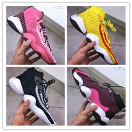 138af8f6d 2018 New Pharrell Crazy BYW LVL 1 Human Race Breathable White Yellow Men  Byw Fly Basketball Trainers Size 36-45
