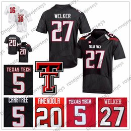 RaideR white online shopping - NCAA Texas Tech Red Raiders Baker Mayfield Danny Amendola DeAndre Washington Wes Welker College Football Black White TTU Jersey