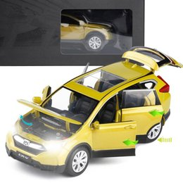 $enCountryForm.capitalKeyWord NZ - 1:32 HONDA CRV alloy pull back car model diecast metal toy vehicles sound&light 4 open doors Original packing,Exquisite gift